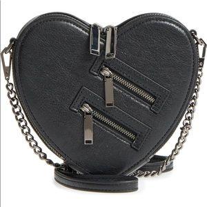 Jamie Heart Leather Crossbody bag